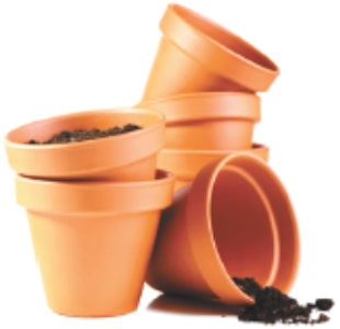 In the fall, I usually dump the contents of my annual planters and pots into a pile in the woods, then store them in my shed over the winter. Is there anything I should be doing to my pots before I put them away? Connie
